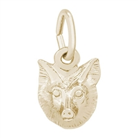 Rembrandt Fox Charm, Gold Plated Silver