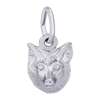 Rembrandt Fox Charm, Sterling Silver