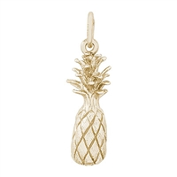 Rembrandt Pineapple Charm, Gold Plated Silver