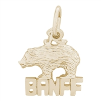 Rembrandt Banff With Bear Charm, Gold Plated Silver