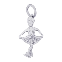 Rembrandt Ice Skater Charm, Sterling Silver