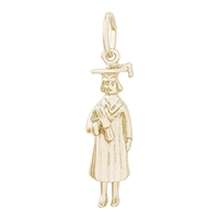Rembrandt Graduation Charm, 10K Yellow Gold