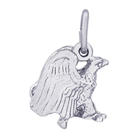 Rembrandt Eagle Charm, Sterling Silver