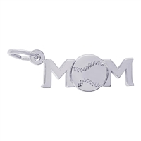 Rembrandt Baseball Mom Charm, Sterling Silver