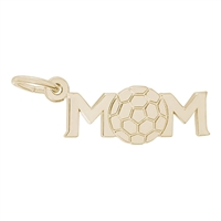Rembrandt Soccer Mom Charm, Gold Plated Silver
