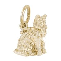 Rembrandt Cat Charm, Gold Plated Silver