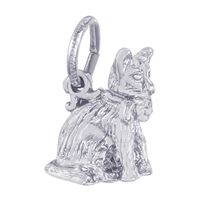Rembrandt Cat Charm, Sterling Silver