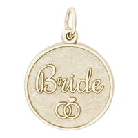 Rembrandt Bride Disc Charm, Gold Plated Silver