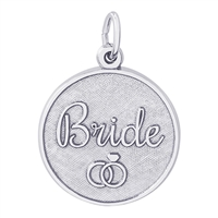 Rembrandt Bride Disc Charm, Sterling Silver