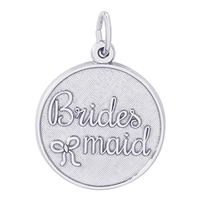 Rembrandt Bridesmaid Disc Charm, Sterling Silver