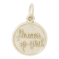 Rembrandt Flower Girl Disc Charm, Gold Plated Silver