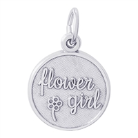 Rembrandt Flower Girl Disc Charm, Sterling Silver