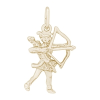 Rembrandt Archer Charm, Gold Plated Silver