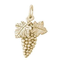 Rembrandt Grapes Charm, Gold Plated Silver