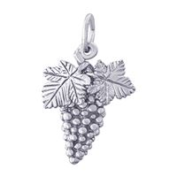Rembrandt Grapes Charm, Sterling Silver