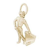 Rembrandt Bull Fighter Charm, Gold Plated Silver
