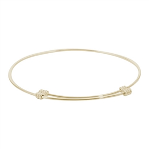 "Rembrandt ""Tranquil"" Expandable Bangle, Gold Plated Silver"