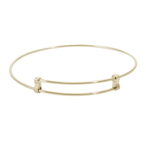 "Rembrandt ""Confident"" Expandable Bangle, Gold Plated Silver"