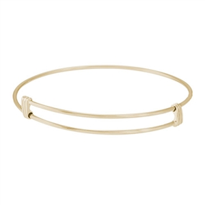 "Rembrandt ""Noble"" Expandable Bangle, Gold Plated Silver"