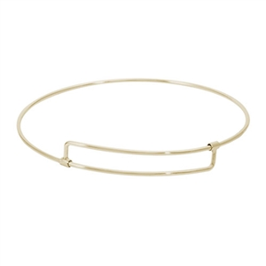 "Rembrandt ""Pure"" Expandable Bangle, Gold Plated Silver"