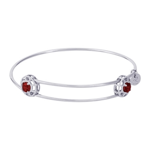 "Rembrandt ""Insightful"" Expandable Bangle - January, Sterling Silver"