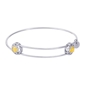 "Rembrandt ""Insightful"" Expandable Bangle - November, Sterling Silver"