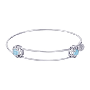 "Rembrandt ""Insightful"" Expandable Bangle - March, Sterling Silver"