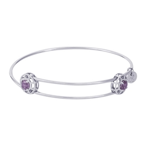 "Rembrandt ""Insightful"" Expandable Bangle - June, Sterling Silver"