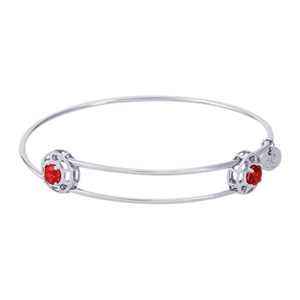"Rembrandt ""Insightful"" Expandable Bangle - July, Sterling Silver"
