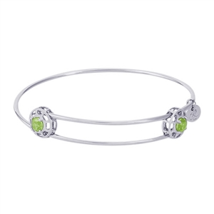 "Rembrandt ""Insightful"" Expandable Bangle - August, Sterling Silver"
