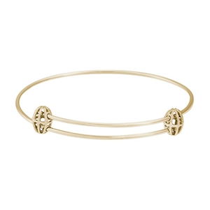 "Rembrandt ""Graceful"" Expandable Bangle, Gold Plated Silver"