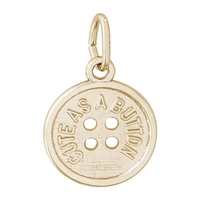 Rembrandt Cute As A Button Charm, Gold Plated Silver