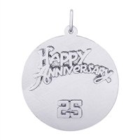 Rembrandt 25th Anniversary Charm, Sterling Silver