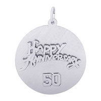 Rembrandt 50th Anniversary Charm, Sterling Silver
