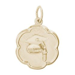 Rembrandt Graduation Charm, Gold Plated Silver