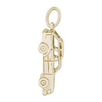 Rembrandt Station Wagon Car Charm, Gold Plated Silver