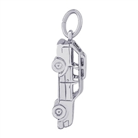 Rembrandt Station Wagon Car Charm, Sterling Silver