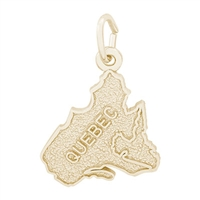 Rembrandt Quebec Charm, Gold Plated Silver