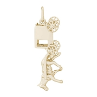 Rembrandt Amish Wagon Charm, Gold Plated Silver