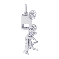Rembrandt Amish Wagon Charm, Sterling Silver