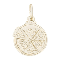 Rembrandt Pizza Charm, Gold Plated Silver