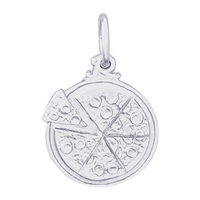 Rembrandt Pizza Charm, Sterling Silver