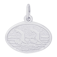 Rembrandt Synchronized Swimming Charm, Sterling Silver