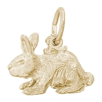 Rembrandt Rabbit Charm, Gold Plated Silver