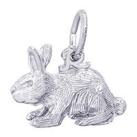 Rembrandt Rabbit Charm, Sterling Silver