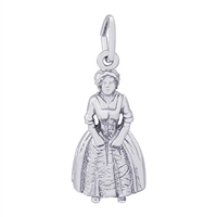Rembrandt Colonial Woman Charm, Sterling Silver