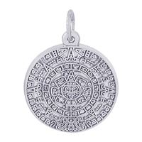 Rembrandt Aztec Sun Charm, Sterling Silver