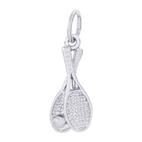 Rembrandt Tennis Racquet Charm, Sterling Silver