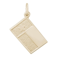 Rembrandt Texas Flag Charm, Gold Plated Silver
