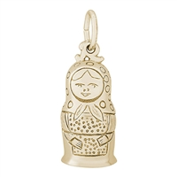Rembrandt Russian Matryoshk-Nesting Doll Charm, Gold Plated Silver